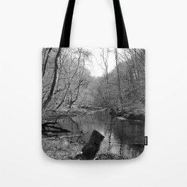 Stream on a Mountain Tote Bag