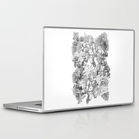 angels Laptop & iPad Skins featuring ANGELS by TOO MANY GRAPHIX