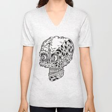 Funny skull Unisex V-Neck