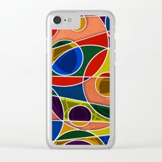 Abstract #322 Gyroscopic Clear iPhone Case