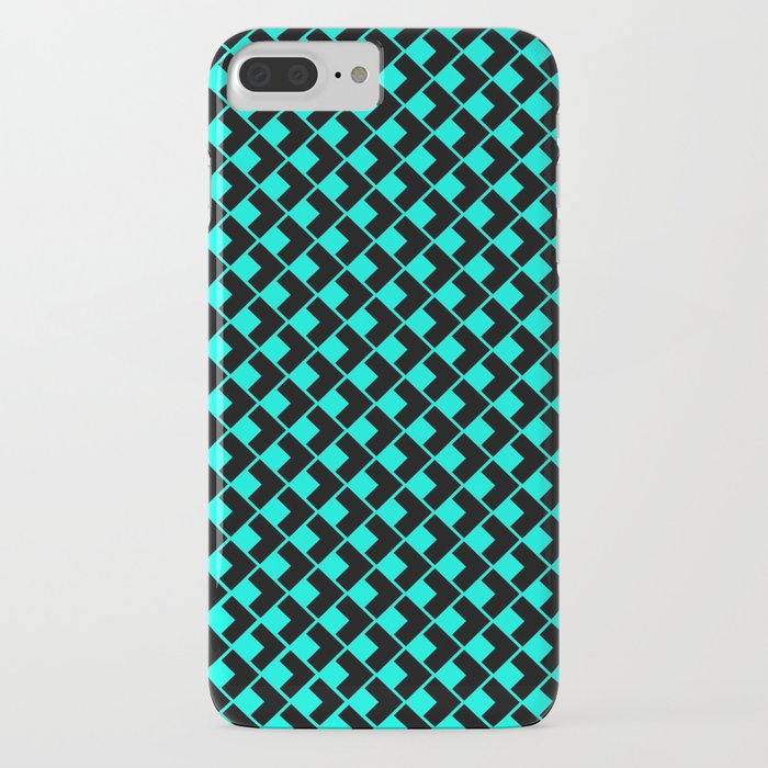 Geometric Abstract Pattern Azure And Black Background