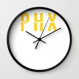 PHX -Phoenix Sky Harbor International Airport Code Souvenir or Gift Design  Wall Clock