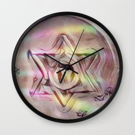Floating Star Of David Wall Clock