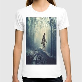 Misty Railway Bigfoot Crossing T-shirt