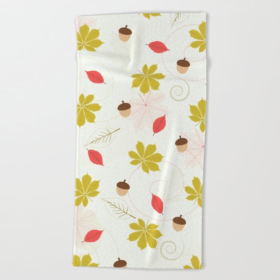 Autumn Pattern Beach Towel