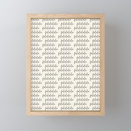 cursive falalalala 1 Framed Mini Art Print