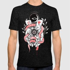 The Blood offering X-LARGE Tri-Black Mens Fitted Tee