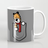 hobbes Mugs featuring Pocket Pal by adho1982