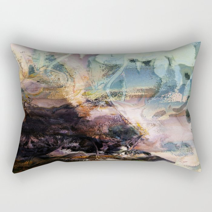 Morning Seashore Abstract Rectangular Pillow
