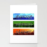 divergent Stationery Cards featuring Divergent by All Things M