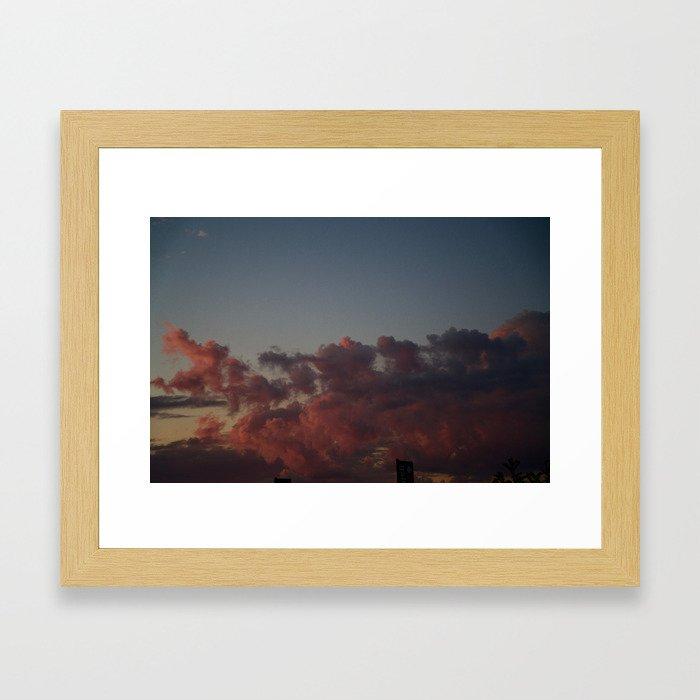 FAIRYFLOSS CLOUDS Framed Art Print