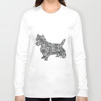 terrier Long Sleeve T-shirts featuring Terrier by PawPrints