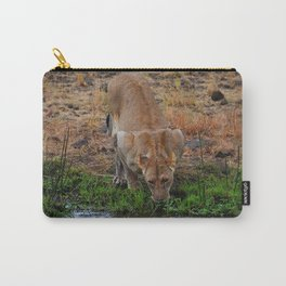 Lioness At The Waterhole Carry-All Pouch
