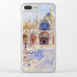 Pierre Auguste Renoir - The Piazza San Marco, Venice Clear iPhone Case