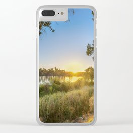 River Sunrise Clear iPhone Case