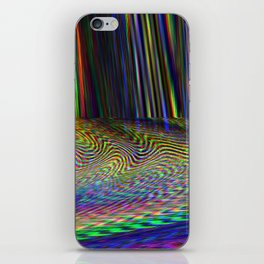 Glitch illustration colorful background iPhone Skin