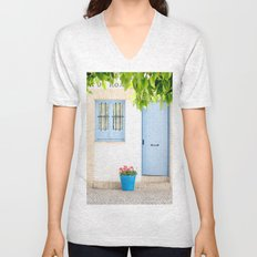 Blue and light Unisex V-Neck