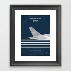 No754 My Sully minimal movie poster Framed Art Print