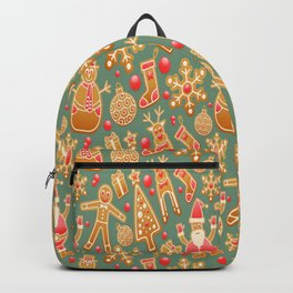 pattern christmas Backpack