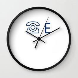 Phone E Wall Clock