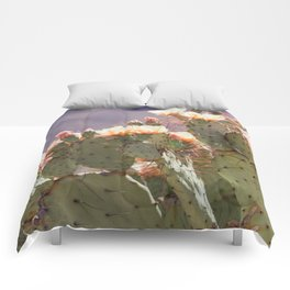 Prickly Pear Blooms I Comforters