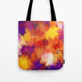 Composition #58 (purple, yellow and red) Tote Bag