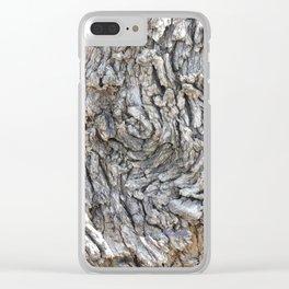 TEXTURES -- Blue Elderberry Bark Clear iPhone Case