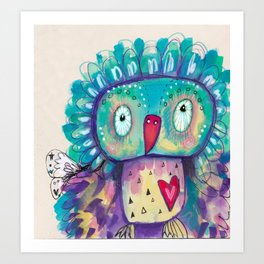 Quirky Bird2 Art Print