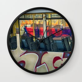 Departure with Ghosts Wall Clock