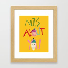 Nuts about you Framed Art Print