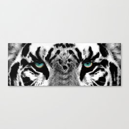 Dressed To Kill - White Tiger Art By Sharon Cummings Canvas Print