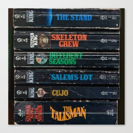 Stephen King Well-Worn Paperbacks Canvas Print