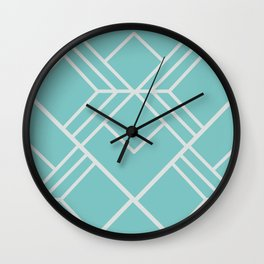 Aqua Sky Scandi Geometric Wall Clock