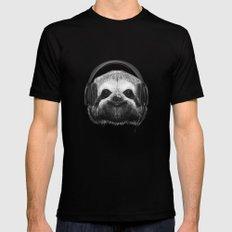 Sloth DJ MEDIUM Black Mens Fitted Tee