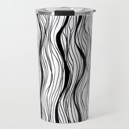 BLACK STRIPES Travel Mug