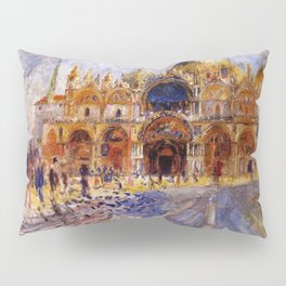 The Piazza San Marco Venice Auguste Renoir Pillow Sham