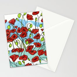 Field Poppies Stationery Cards