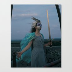 The Woman of Swords Canvas Print
