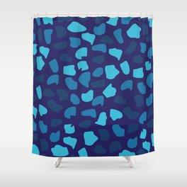 Blue Stones Shower Curtain