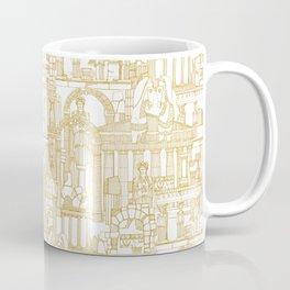 Ancient Greece gold white Coffee Mug