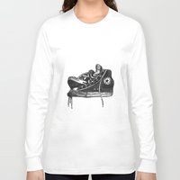 sneakers Long Sleeve T-shirts featuring sneakers by Cardula