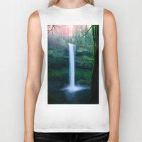 waterfall Biker Tanks featuring Waterfall by Ian Bevington