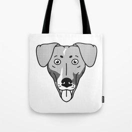 Dachshund Mix Dog Portrait -Custom Request, Black Palette Tote Bag