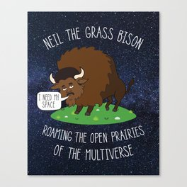 Neil deGrasse Tyson / Bison Canvas Print