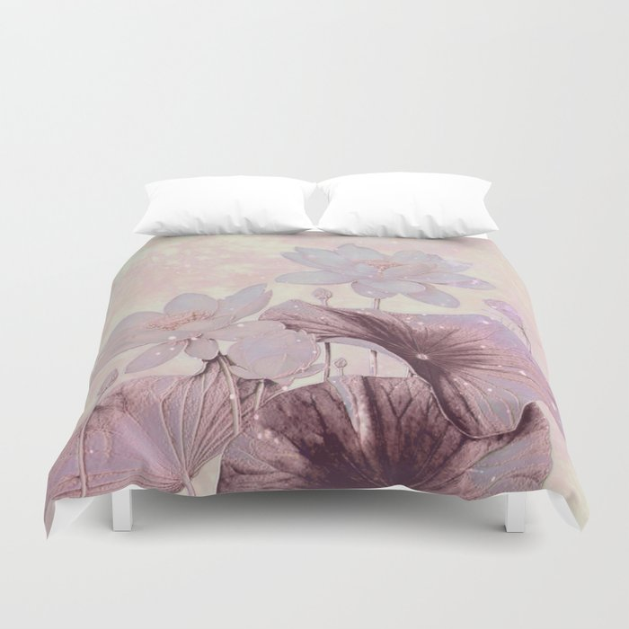 pastel waterlily Duvet Cover
