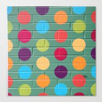 polka dot Canvas Prints featuring Polka Dot by Atomic Starburst