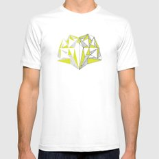 Facets Reflect Mens Fitted Tee MEDIUM White