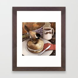 The Bagel Thief Framed Art Print