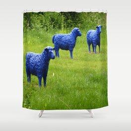 blue sheep Shower Curtain
