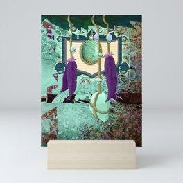Aqua Tribal Bauble Bohemian Crest Mini Art Print